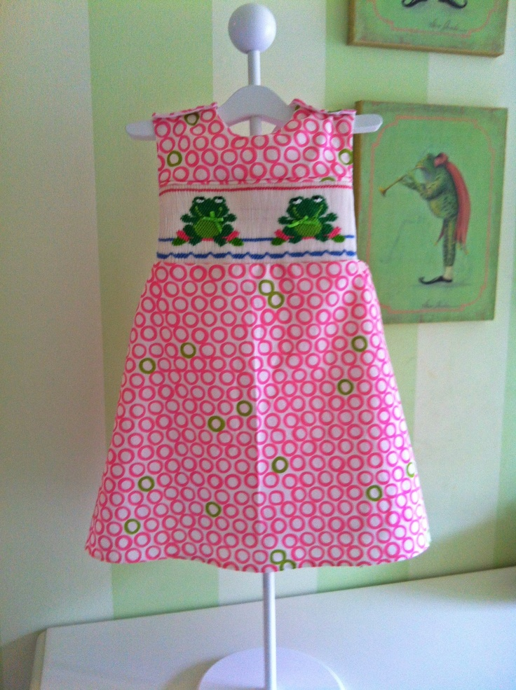 Frog dress size 3 my smocking projects pinterest