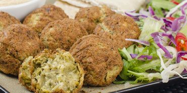 Fava Bean Falafel with Tahini salad | Recipes I'd like to make | Pin ...