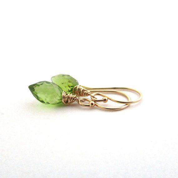 Earrings green gemstone jewelry august birthstone peridot jewelry