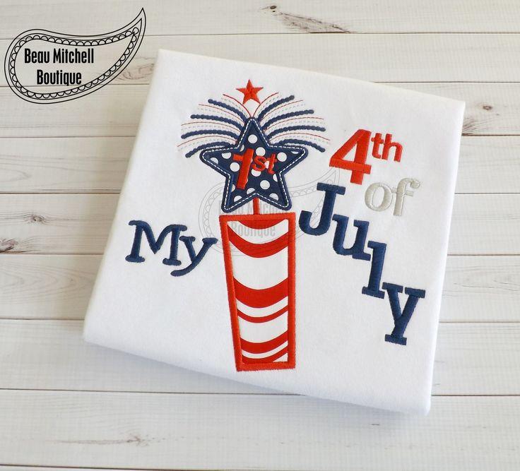 4th of july applique designs