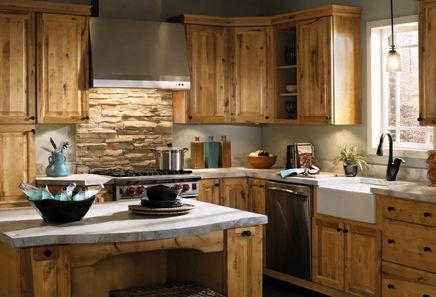 Birch kitchen cabinets aristokraft cabinetry rustic for Aristokraft oak kitchen cabinets