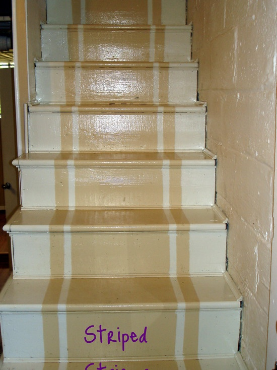Striped painted stairs idea decorating ideas pinterest - Painted stairs ideas pictures ...