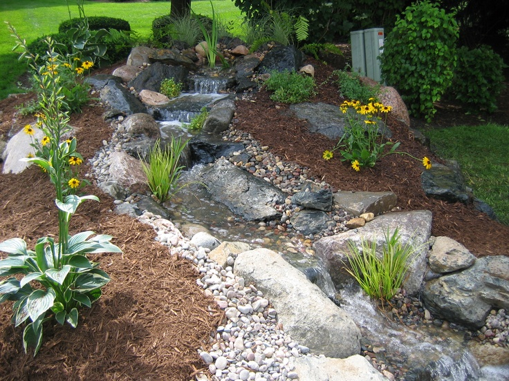 How to build a pondless water feature pictures to pin on pinterest - Pondless Waterfall Backyard Water Features Pinterest