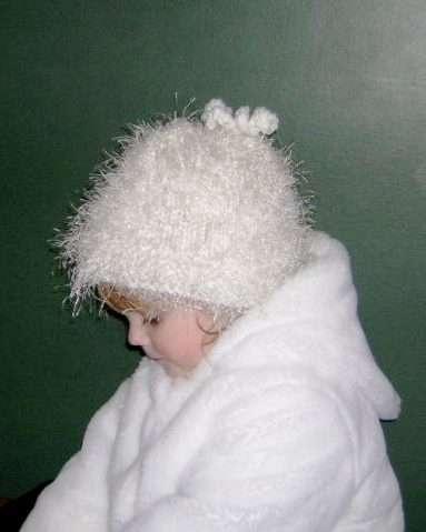 fun fur hat knit Knitting Needles Pinterest