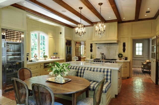 love the seating idea french country kitchens pinterest