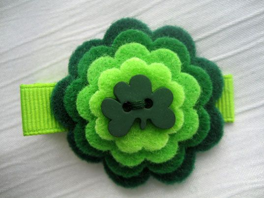 St. Patrick's day hair clip