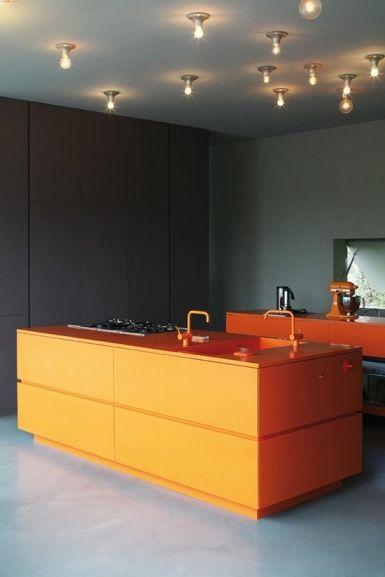 black and orange kitchen  Tangerine Tango Decor  Pinterest