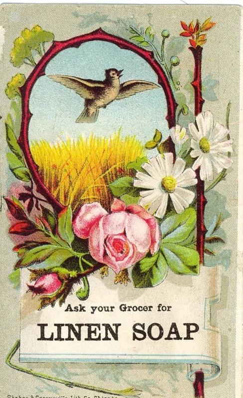 Victorian Linen Soap Trade Card