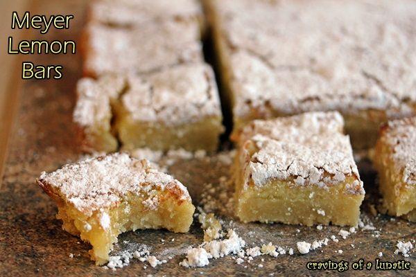 Meyer Lemon Bars | Comfort food at its finest. Lemon bars are a family ...