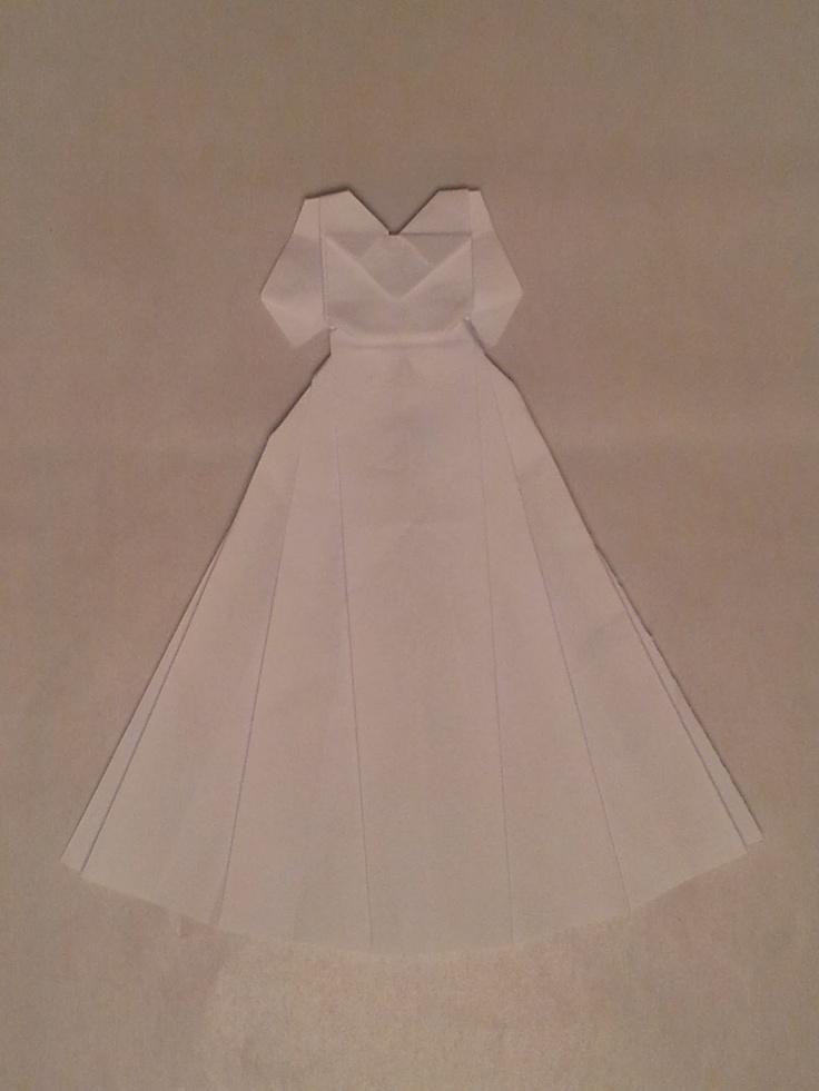 Cute Little Origami Wedding Dress | Origami | Pinterest - photo#14