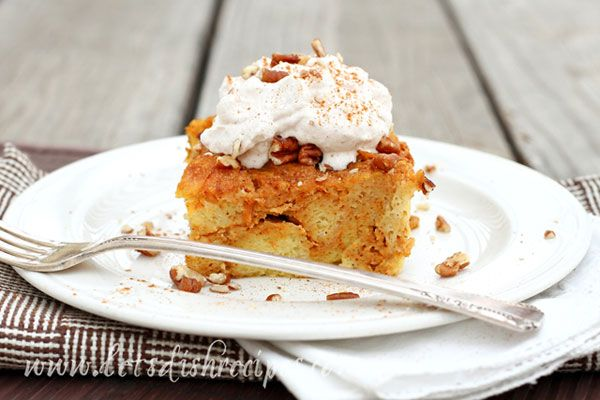 Baked Pumpkin French Toast with Cinnamon Whipped Cream | Recipe