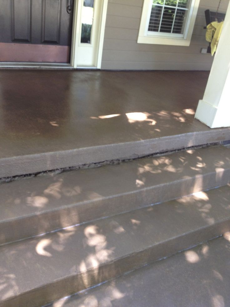 Stained concrete front porch front porch pinterest for Stained front porch