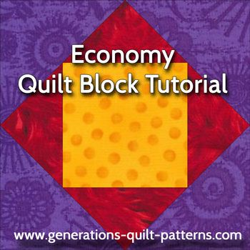 Economy quilt block pattern tutorial | Quilts to Sew | Pinterest