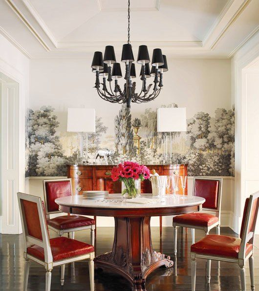 Brooke Shield's dining room, via Architectural Digest