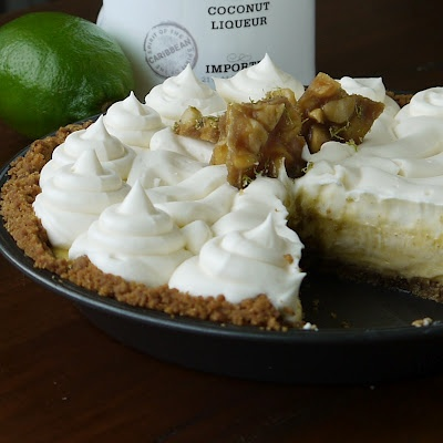 Key-Lime Pie with White-Chocolate-Coconut-Rum Cream and Macadamia-Lime ...