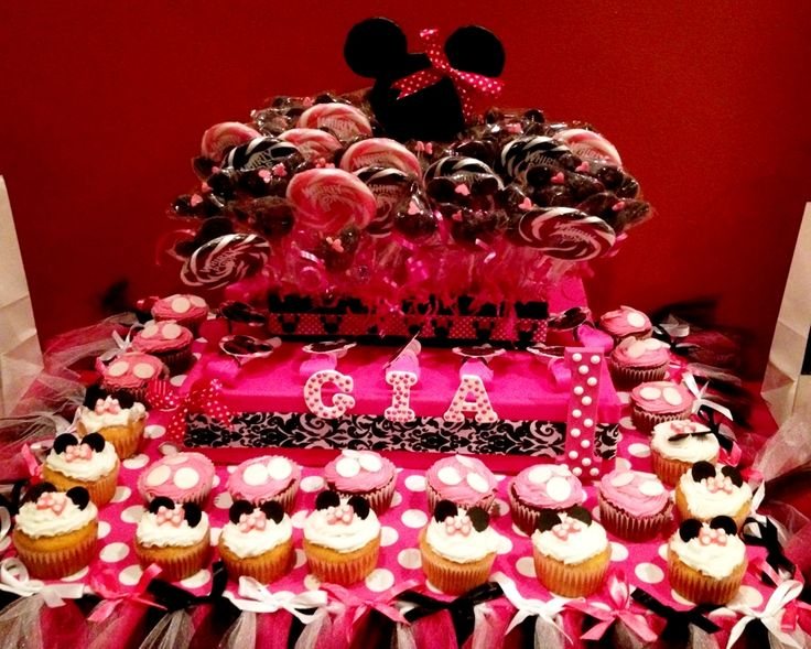 Pink and Black Cupcake and Cake Pop Stand Extra Large