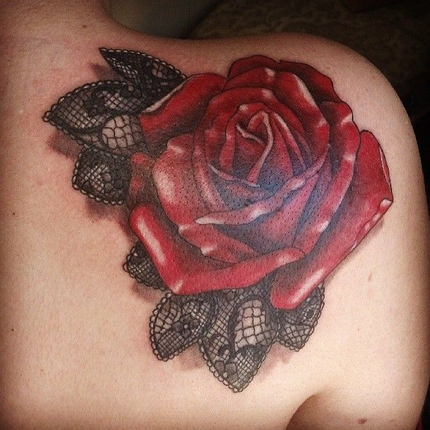 Rose lace rose tattoo inspirations pinterest for Rose lace tattoo