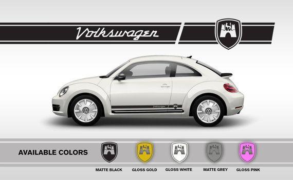 Professionally Made Volkswagen Beetle Vinyl Decals New Vw