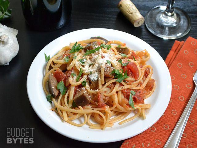 Pasta with Eggplant Sauce | Recipe