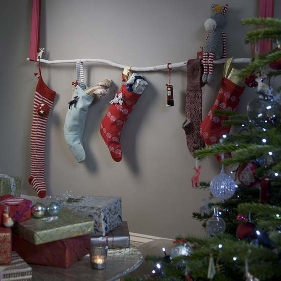 Look Hanging Stockings Without A Fireplace
