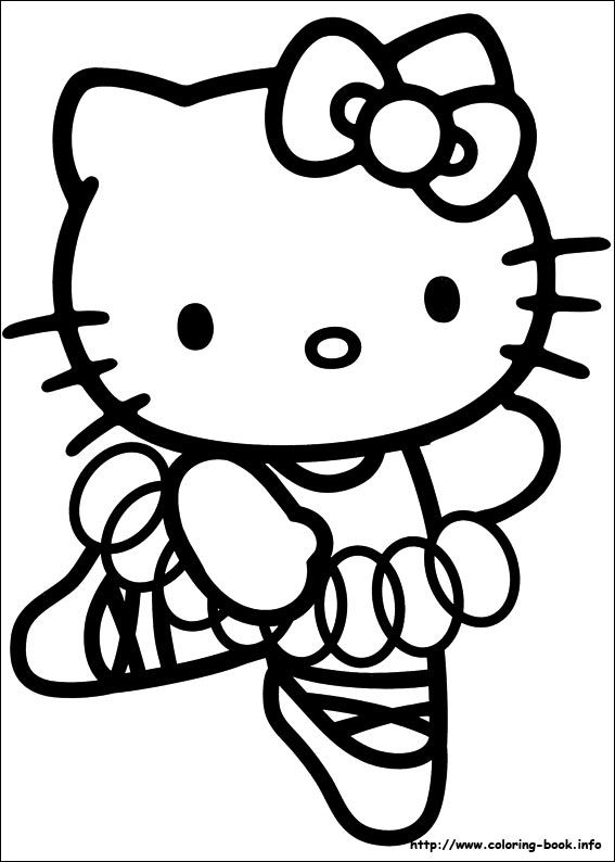 Hello Kitty Gymnastics Coloring Pages : Hello kitty coloring picture pics pinterest