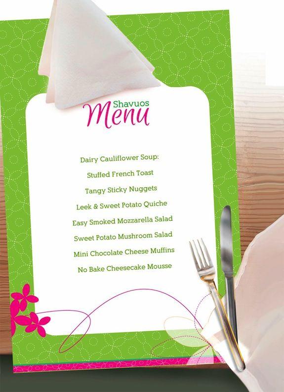 shavuot menu recipes