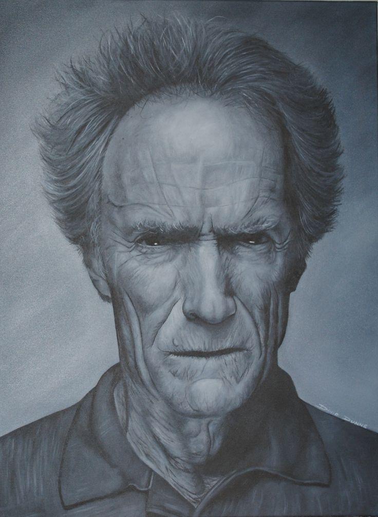 Clint eastwood portrait oil painting david dunne art pinterest