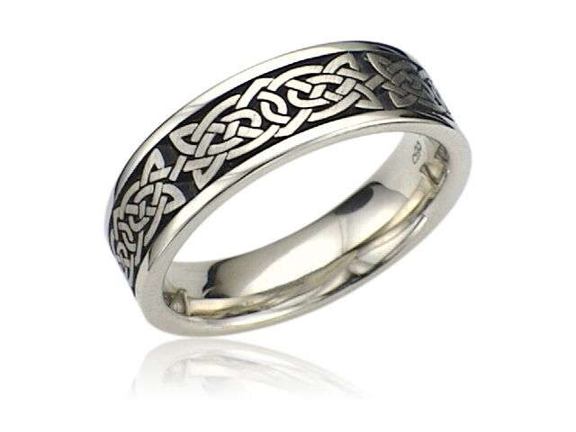 Light and dark celtic wedding ring celtic wedding ring for Celtic wedding rings for men