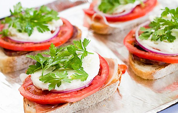 Italian Tomato and Mozzarella Crostini – Topped with Cured Meats and ...