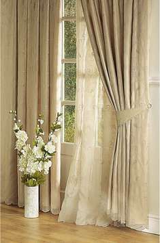 SALZBURG LINED VOILE CURTAINS