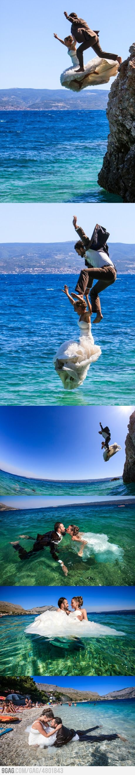 you only wear your wedding dress once so you might as well do something awesome in it -caribbean.html