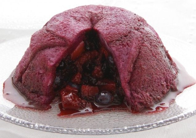 Summer pudding lava cake. Wow your guests with this beauty. http://www ...