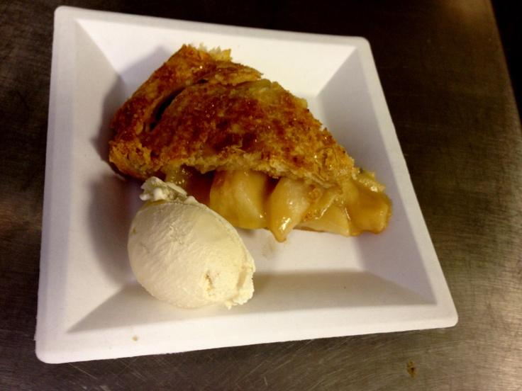 Lori's Apple Pie with Creme Fraiche Ice Cream.