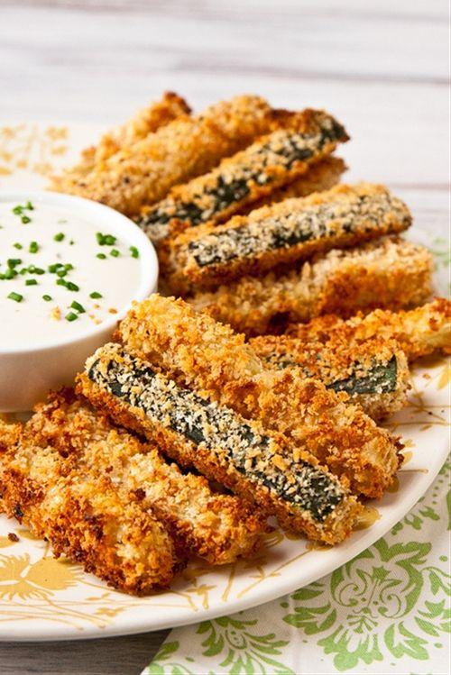 Crispy Baked Zucchini Fries | Food Comatose | Pinterest
