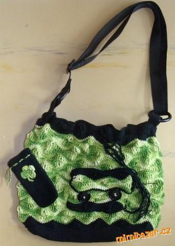 Zelenkavá kabelka pouzdro na mobil