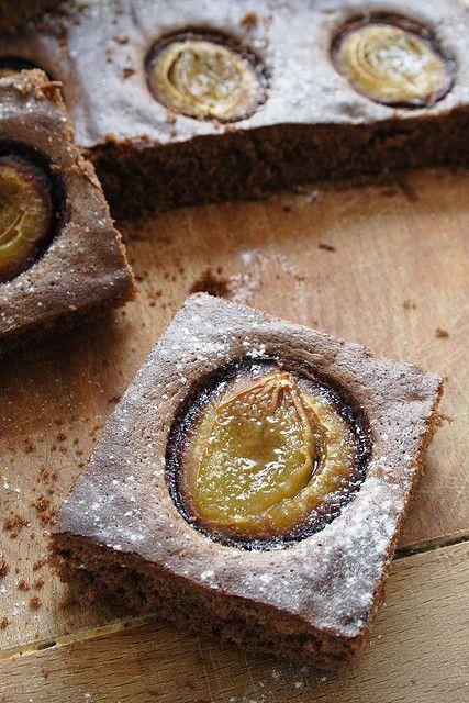 Chocolate Dimply Plum Cake by palachinka, via Flickr