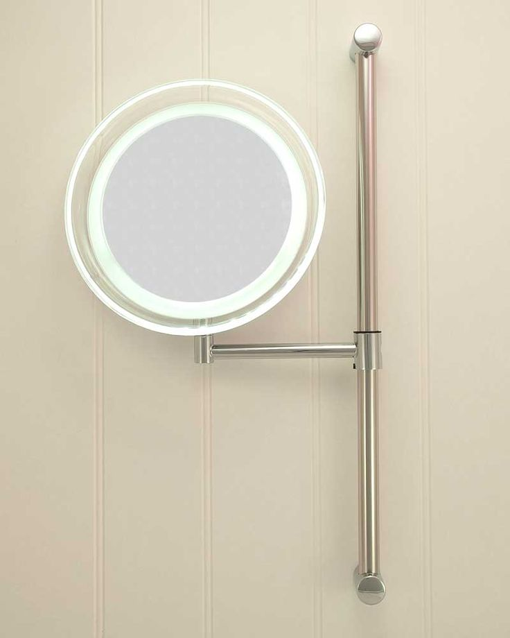 Lighted Vanity Mirror Battery Operated : Battery Operated Round LED Vanity Mirror bathroom lights Pinterest