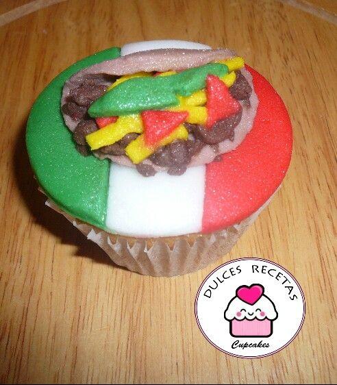 taco cupcake | Dulces Recetas Cupcakes | Pinterest