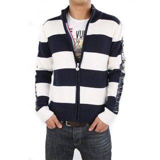 Blue White Sweater Men