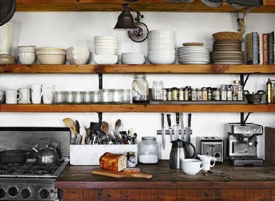 kitchen wall shelves wood texas house pinterest. Black Bedroom Furniture Sets. Home Design Ideas