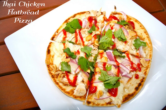 thai chicken flatbread pizza | Cooking - to try | Pinterest