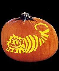 Cheshire cat happy halloween pinterest for Cat pumpkin designs to carve