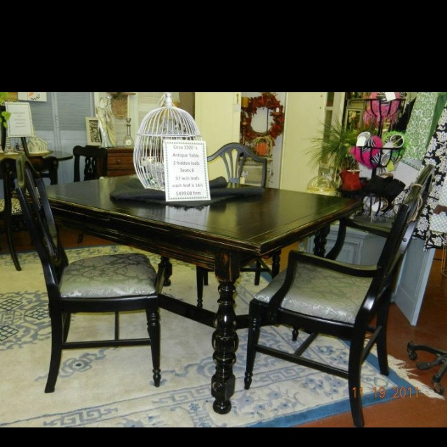 Dining table dining table painted black for X furniture catalogue