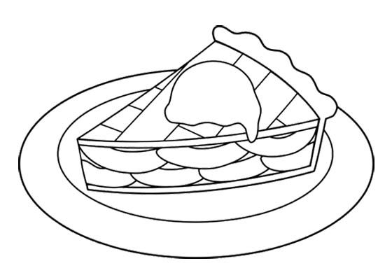 Coloring Pages Of Apple Pie : Sweet slice apple pie coloring page action man