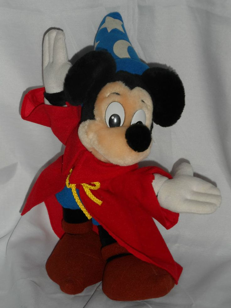 Disney store plush mickey mouse 11 fantasia wizard stuffed animal toy video games pinterest - Disney store mickey mouse ...