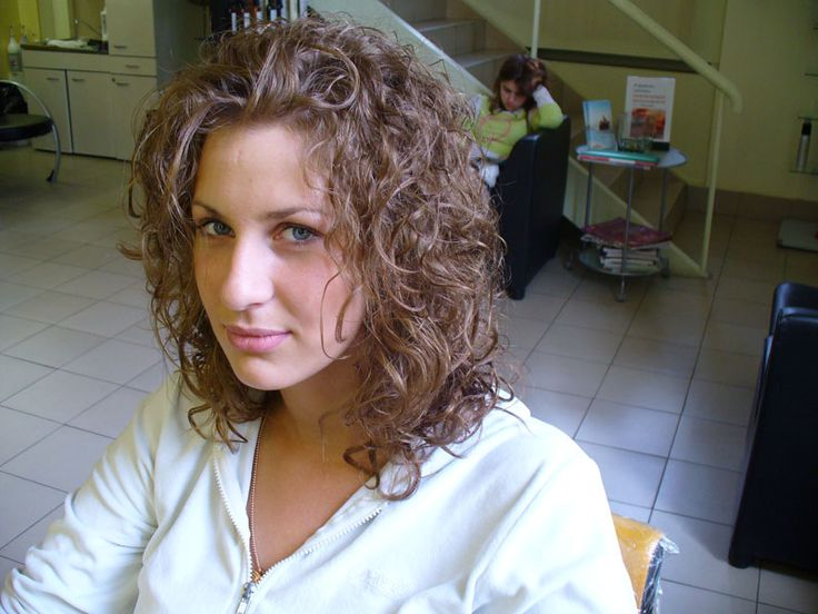 loose curl in shoulder length hair | Perm Ideas | Pinterest