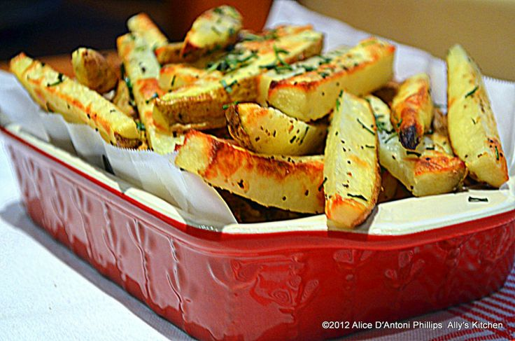 Peasant Herb Oven Roasted French Fries | Recipes | Pinterest