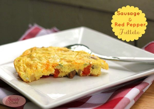 Sausage & Red Pepper Frittata. 3 mild Italian sausages 1 red pepper ...