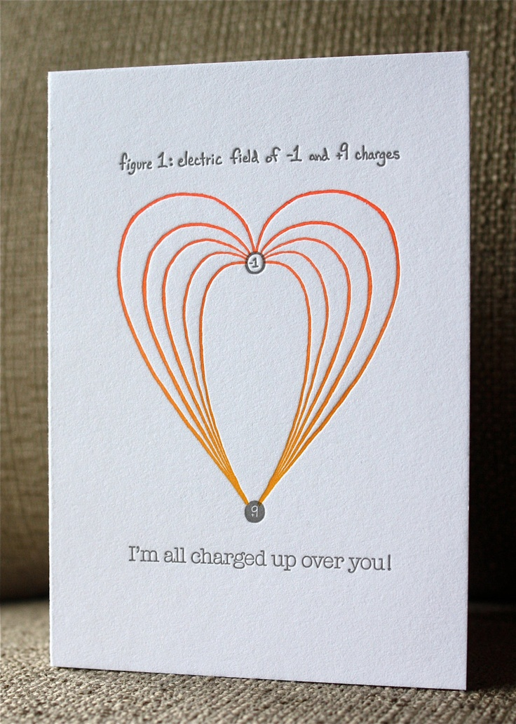 Letterpress love note electric field charge