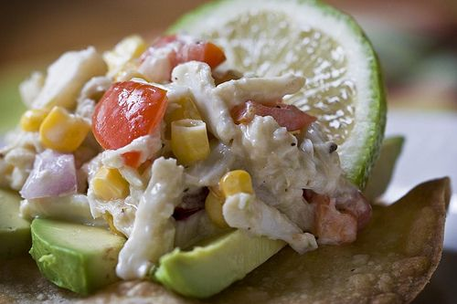 Crab Tostadas. | Forever a Foodie | Pinterest